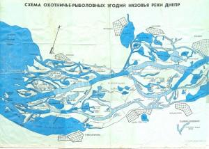 Карта плавней Дельты Днепра